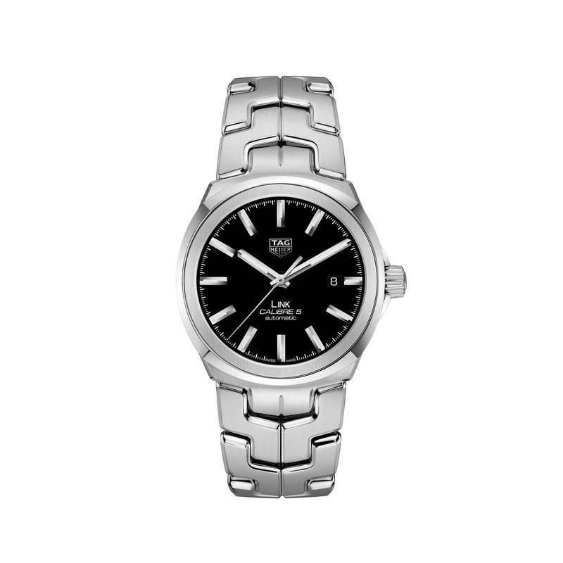 TAG Heuer LINK - 41mm 3 hand auto watch, black dial