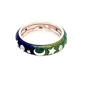 Tri-Colour Enamel Ring
