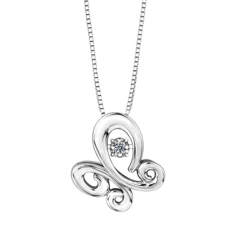 I Am Canadian Diamond Pulse Necklace