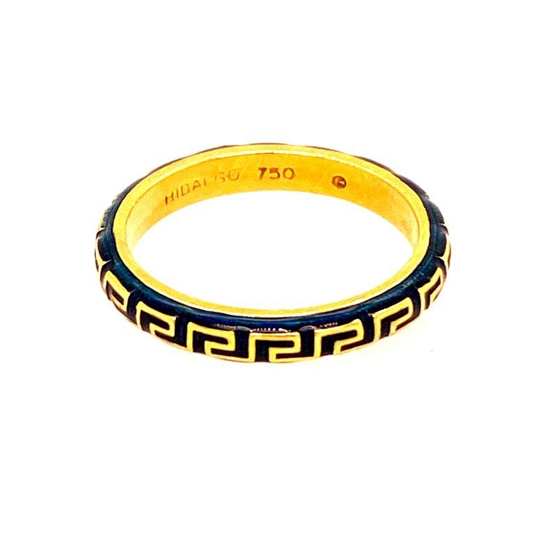 Ashley Greek Key Enamel Ring