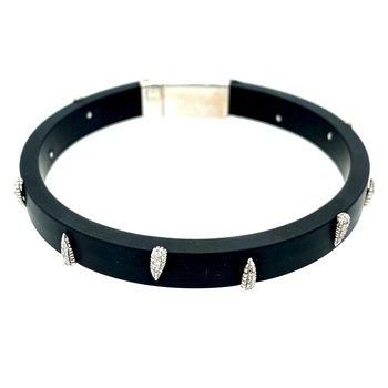 Rubber & Diamond Bracelet