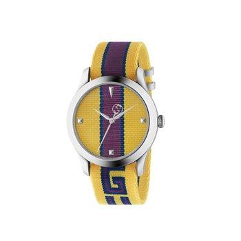 Men's G-Timeless Yellow and Purple Nylon Strap Watch YA1264069
