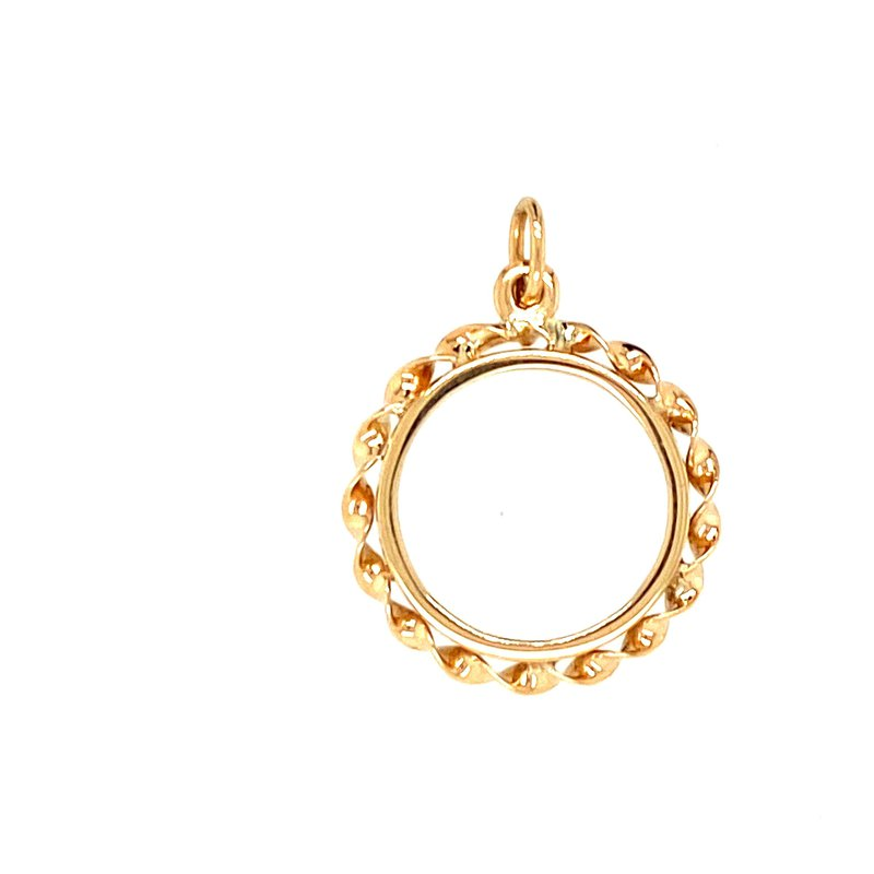Ashley Yellow Gold Coin Holder Charm