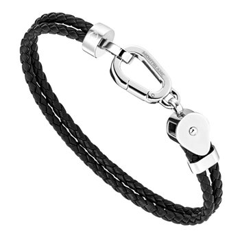 Wrap Me Bracelet Duo Leather and Steel