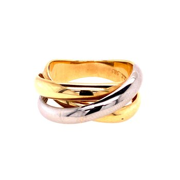 Ladies Two Tone Ring