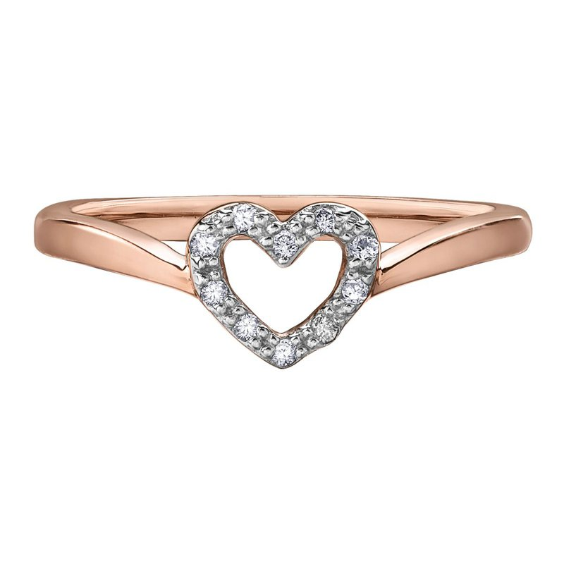 Ashley Rose Gold Heart Ring