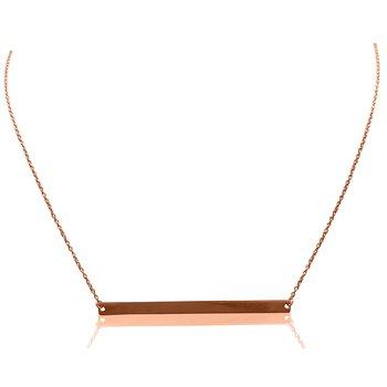 Rose Gold Horizontal Bar Necklace