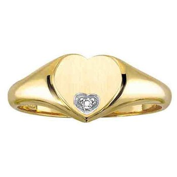 10kt yellow gold set with .007ct. diamond.