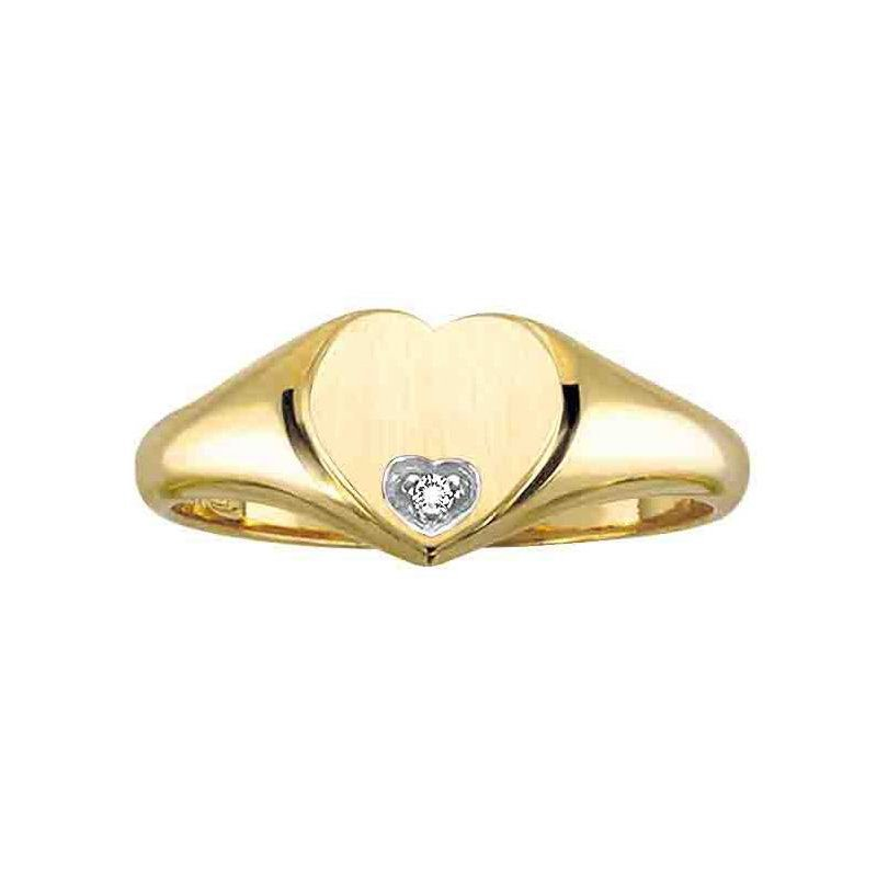 Ashley 10kt yellow gold set with .007ct. diamond.
