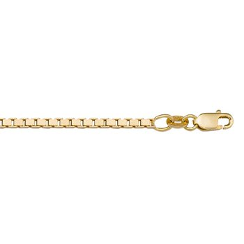 """1.9mm Box Chain in 10kt Gold - 18"""""""