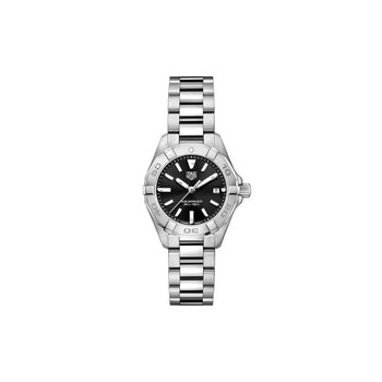Aquaracer Quartz Watch 27mm Black dial, bracelet