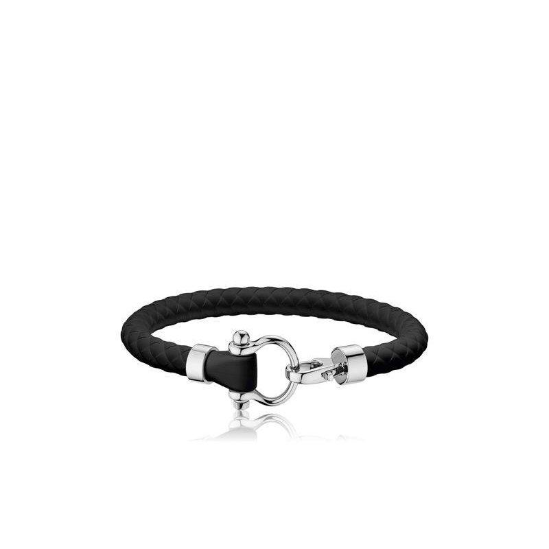 OMEGA Black Omega Sailing Bracelet - Small