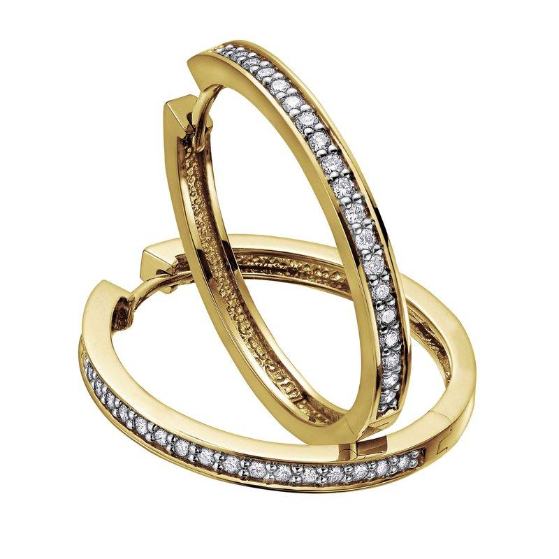 Ashley Diamond Hoop Earrings