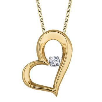 Diamond Heart Pulse Necklace