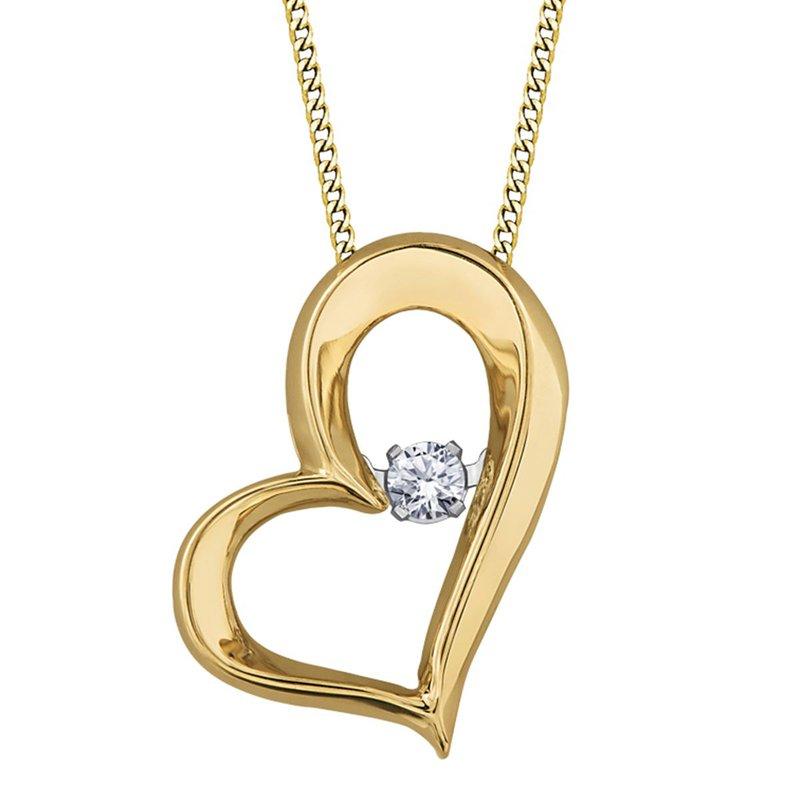 Ashley Diamond Heart Pulse Necklace