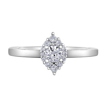 Marquise Shape Engagement Ring