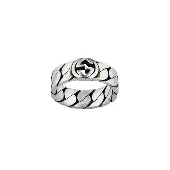 Interlocking G Sterling Silver 6mm Ring YBC661513001 Size 8.25 (18)