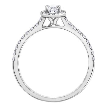 Oval Halo 18kt Engagement Ring