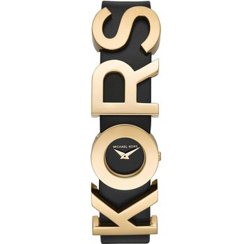 KORS Embellished Leather Watch