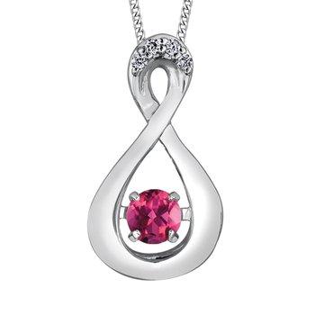 Pink Tourmaline & Diamond Pulse Necklace