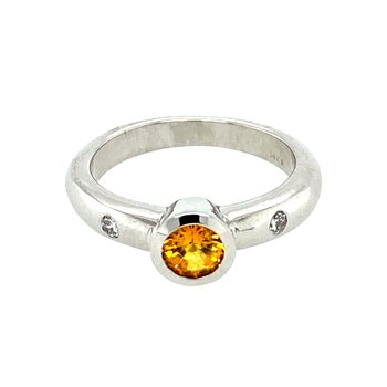 Ladies Yellow Sapphire Ring