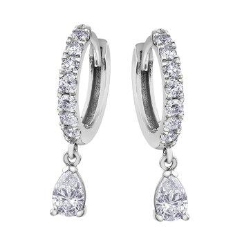 Pear shaped Drop Earrings