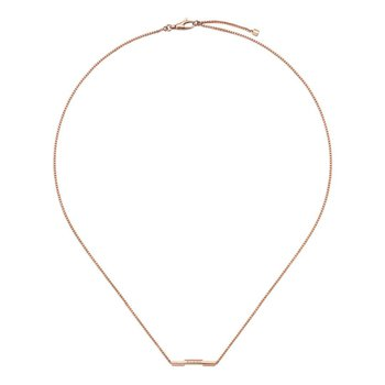 Link To Love 18kt Rose Gold Necklace YBB662108002