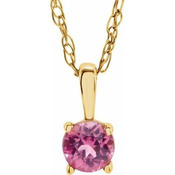 Children's Necklace - October Birthstone