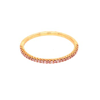 Light Pink Diamond Set Band