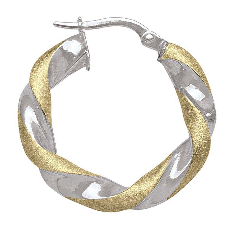 Ashley Two-Tone Twist Hoop Earrings