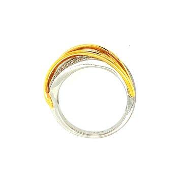 Brushed Gold Ring