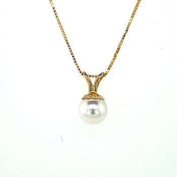 Pearl Drop Necklace 5.5mm