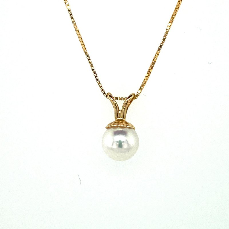 Ashley Pearl Drop Necklace 5.5mm