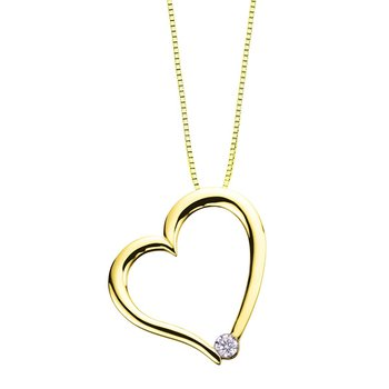 Canadian Diamond Heart Necklace