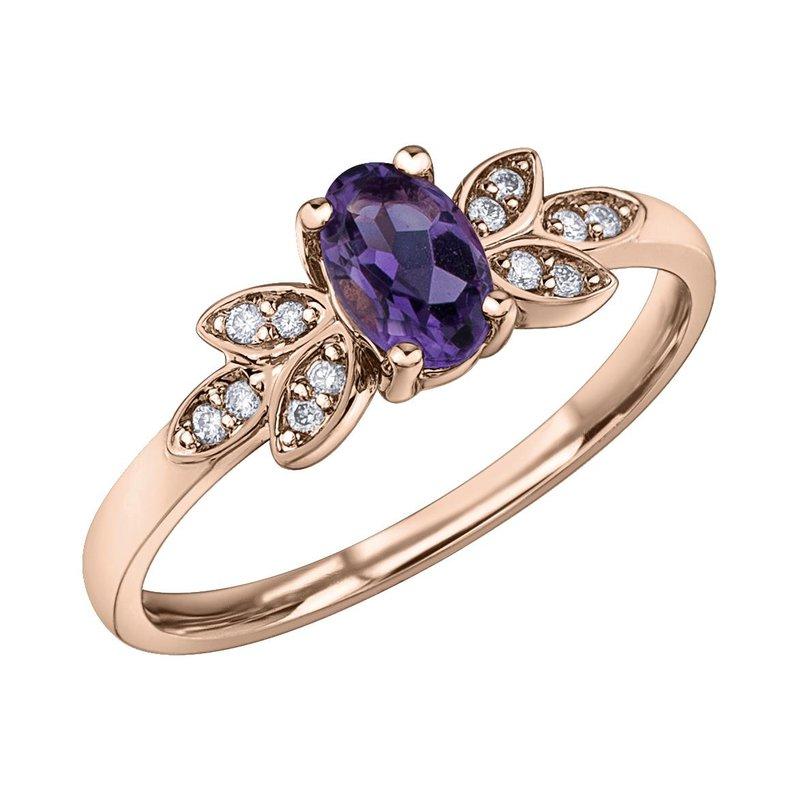 Ashley Ladies Amethyst and Diamond Ring