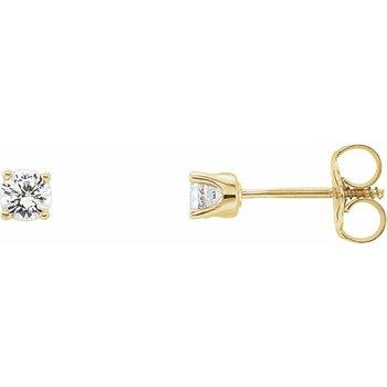 Childrens Earrings - Imitation Diamond April Birthstone