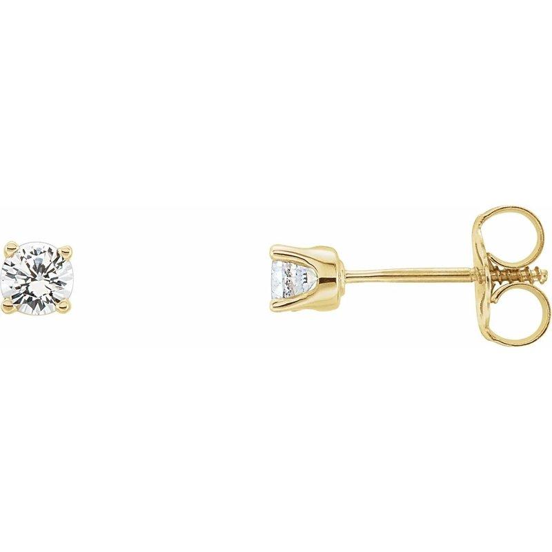 Ashley Childrens Earrings - Imitation Diamond April Birthstone