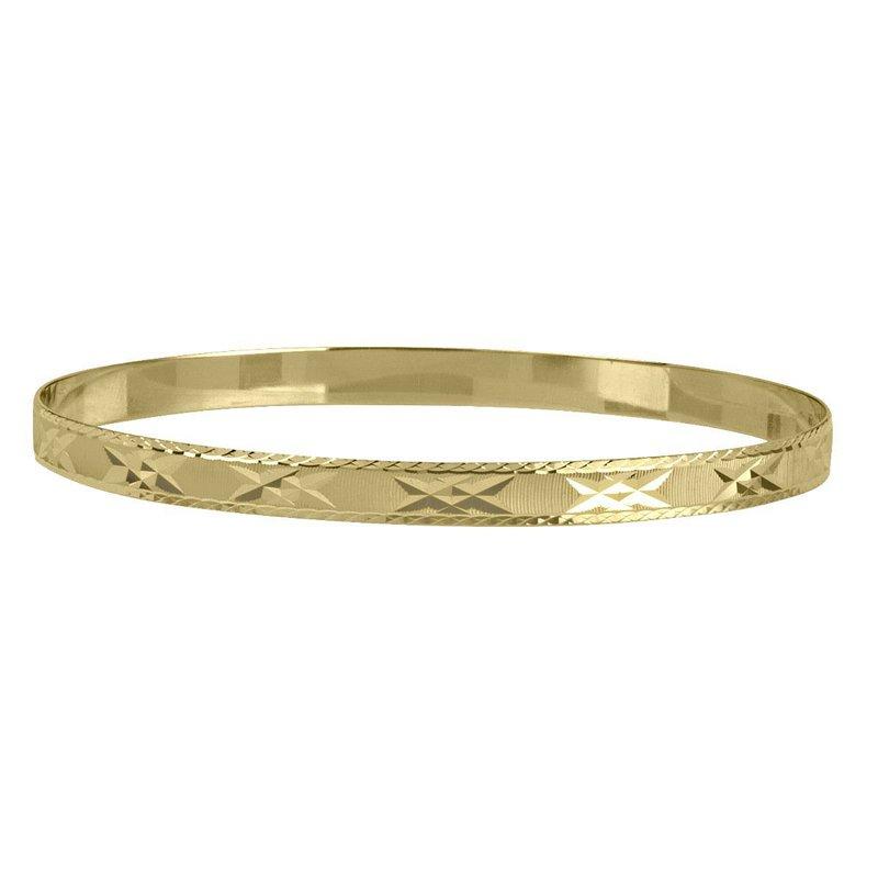 Ashley Yellow Gold Bangle Bracelet