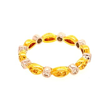 Yellow Diamond Stackable Ring