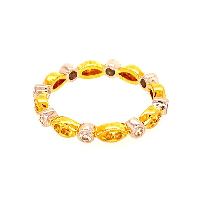 Ashley Yellow Diamond Stackable Ring