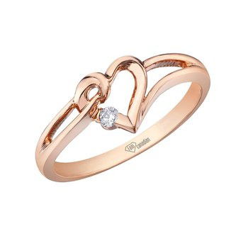 Heart Shaped Ladies Ring