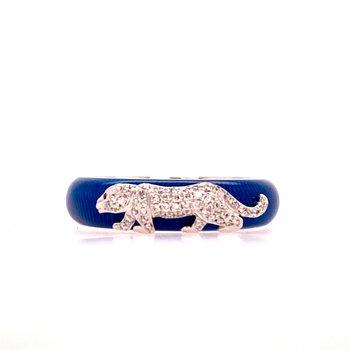 Leopard Enamel Diamond Ring
