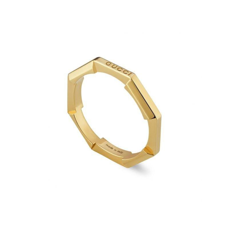 Gucci Link to Love mirrored ring YBC662194001 SIZE 6.5