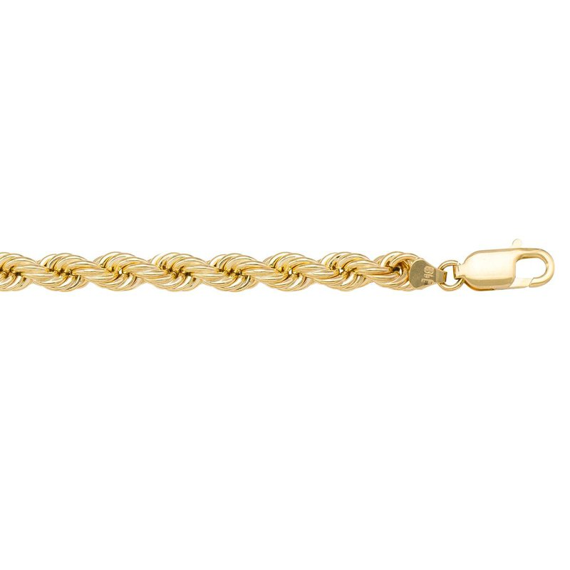 """Ashley 5mm Rope Chain in 10kt Gold - 18"""""""