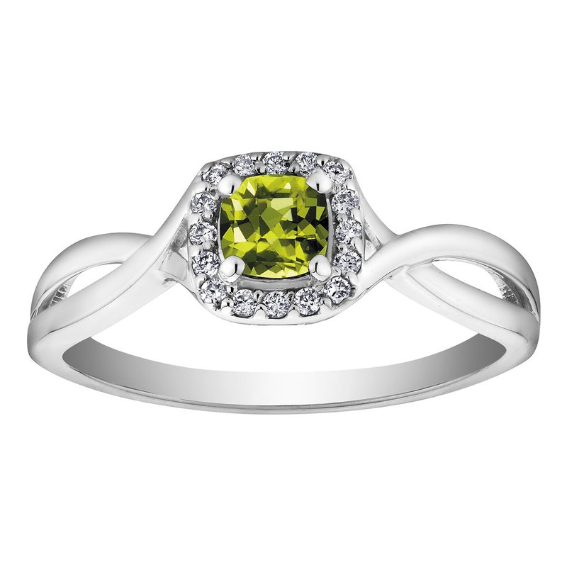 Ashley Peridot & Diamond Ring