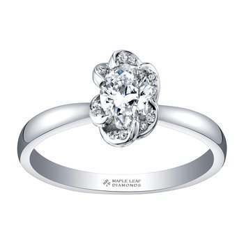 Oval Shaped Engagement Ring