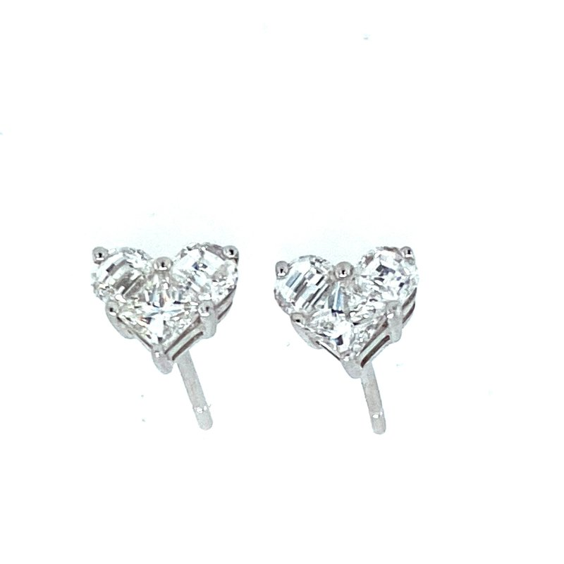 Ashley Diamond Heart Earrings