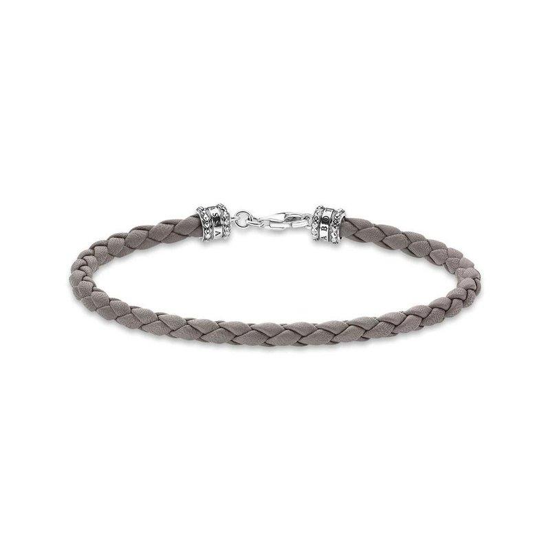Thomas Sabo Mens Braided Napa Leather Bracelet 19cm A2011-682-5-L19