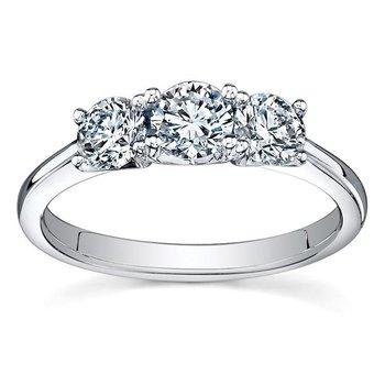 Three Stone Diamond Trinity Ring