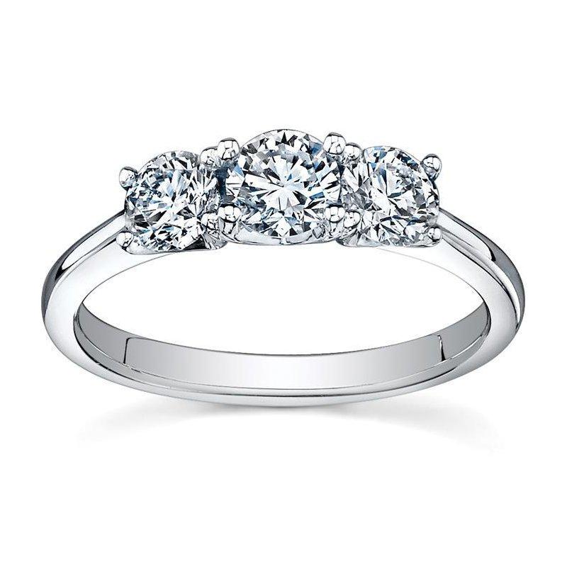 Ashley Three Stone Diamond Trinity Ring